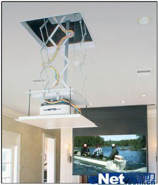 投影机电动吊架安装,故障及排除